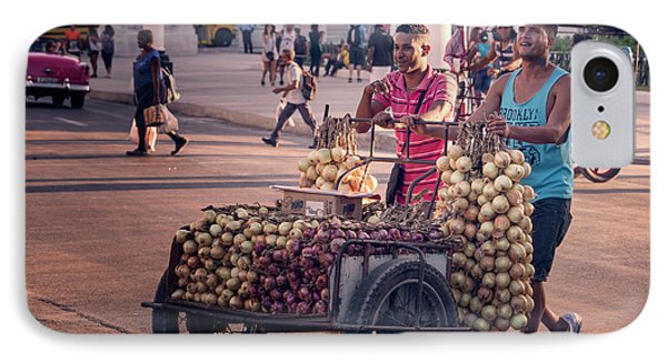IPhone Case featuring the photograph Havana Cuba Onion Cart by Joan Carroll