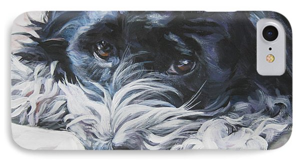 Havanese Black And White IPhone Case by Lee Ann Shepard