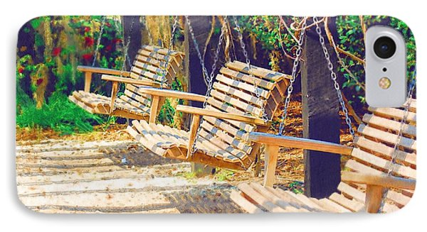 IPhone Case featuring the photograph Have A Seat Relax by Donna Bentley