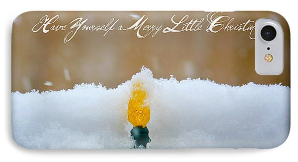 Have Yourself A Merry Little Christmas Phone Case by Lisa Knechtel