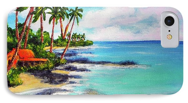 Hawaii North Shore Oahu #472 Phone Case by Donald k Hall