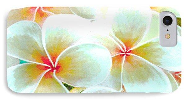 Hawaii Plumeria Frangipani Flowers #86 Phone Case by Donald k Hall