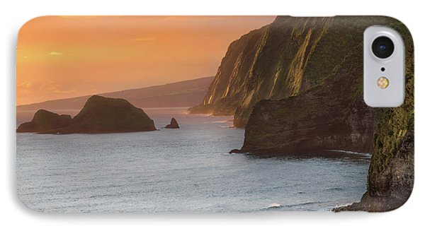 Helicopter iPhone 7 Case - Hawaii Sunrise At The Pololu Valley Lookout 2 by Larry Marshall