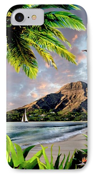 Hawaii Sunset IPhone Case by Ron Chambers