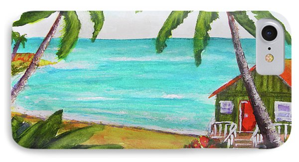 Hawaii Tropical Beach Art Prints Painting #418 Phone Case by Donald k Hall