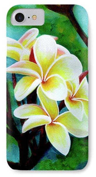Hawaii Tropical Plumeria Flower #225 Phone Case by Donald k Hall