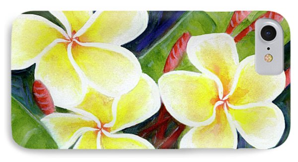 Hawaii Tropical Plumeria Flower #298, Phone Case by Donald k Hall