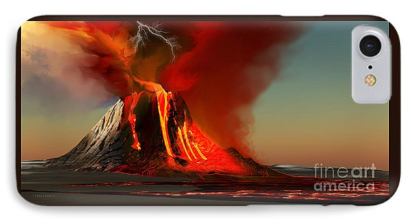 Hawaii Volcano Phone Case by Corey Ford