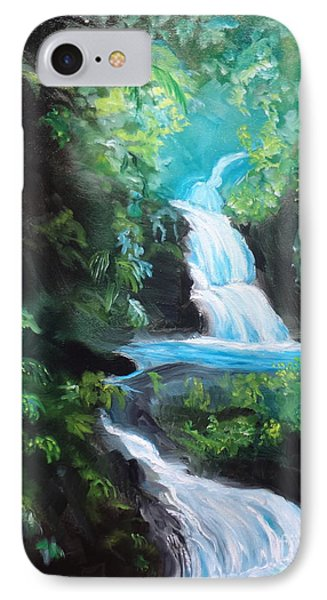Hawaiian Waterfalls IPhone Case by Jenny Lee