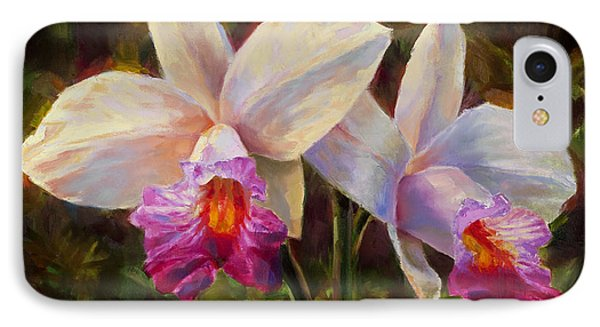 Hawaiian Bamboo Orchid Phone Case by Karen Whitworth
