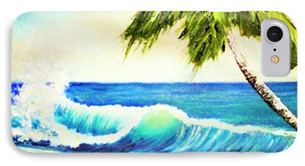 Hawaiian Beach Wave #420 Phone Case by Donald k Hall