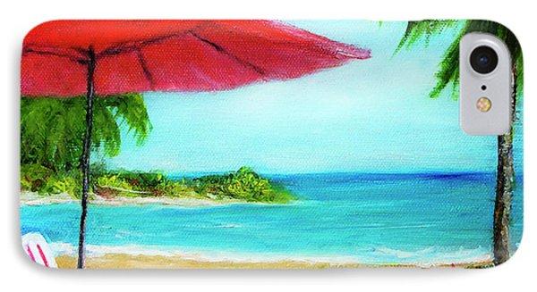 Hawaiian Beach Wave Art Print Painting #441 Phone Case by Donald k Hall