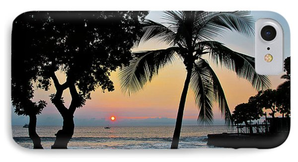 Hawaiian Big Island Sunset  Kailua Kona  Big Island  Hawaii IPhone Case by Michael Bessler
