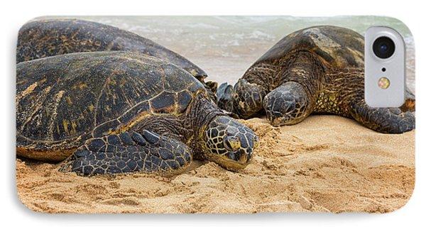 Hawaiian Green Sea Turtles 1 - Oahu Hawaii Phone Case by Brian Harig