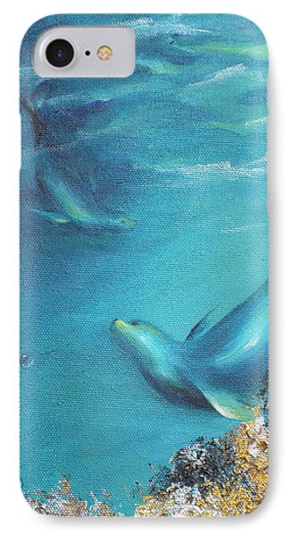 IPhone Case featuring the painting Hawaiian Monk Seals by Dina Dargo