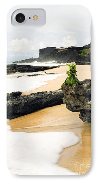 Hawaiian Offering On Beach IPhone Case by Dana Edmunds - Printscapes