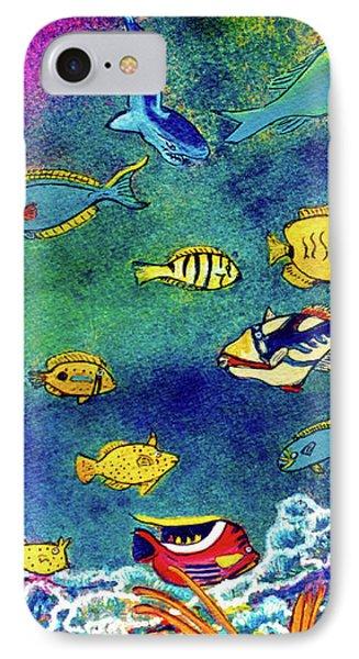 Hawaiian Reef  Fish #223 Phone Case by Donald k Hall