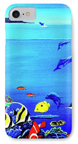 Hawaiian Reef Fish Nimo #193 Phone Case by Donald k Hall