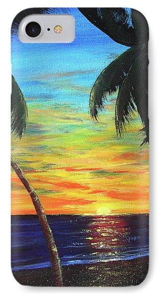 Hawaiian Sunset #340 Phone Case by Donald k Hall