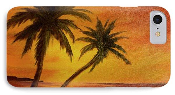 Hawaiian Sunset #380 Phone Case by Donald k Hall