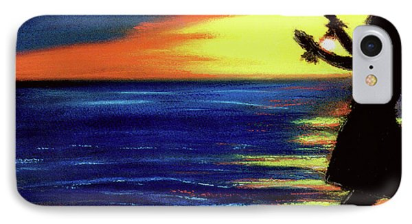 Hawaiian Sunset With Hula Dance  #183, Phone Case by Donald k Hall