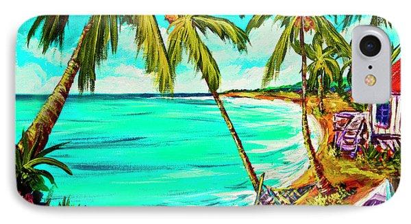 Hawaiian Tropical Beach #355 Phone Case by Donald k Hall