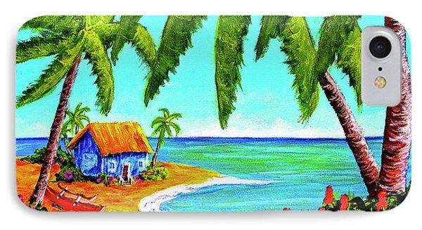 Hawaiian Tropical Beach  #364 Phone Case by Donald k Hall