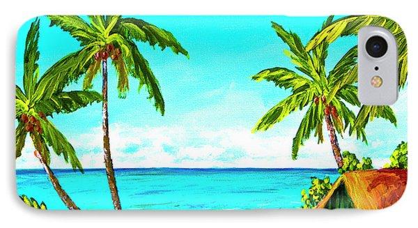 Hawaiian Tropical Beach #366  Phone Case by Donald k Hall