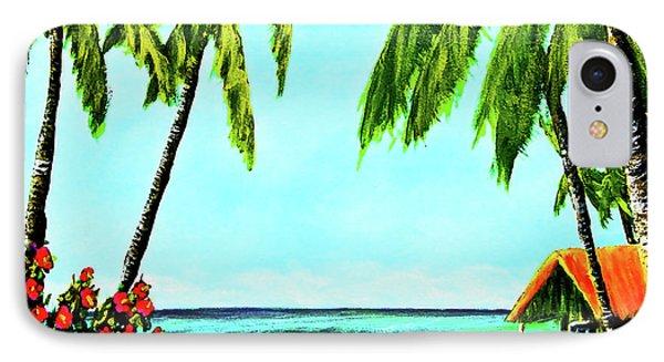 Hawaiian Tropical Beach #367  Phone Case by Donald k Hall