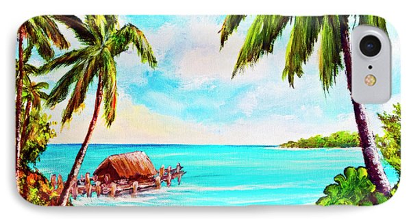 Hawaiian Tropical Beach #388 Phone Case by Donald k Hall