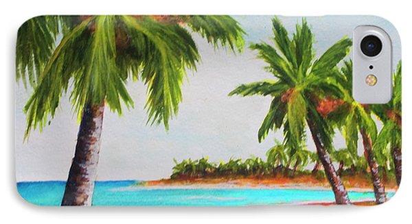 Hawaiian Tropical Beach #429 Phone Case by Donald k Hall