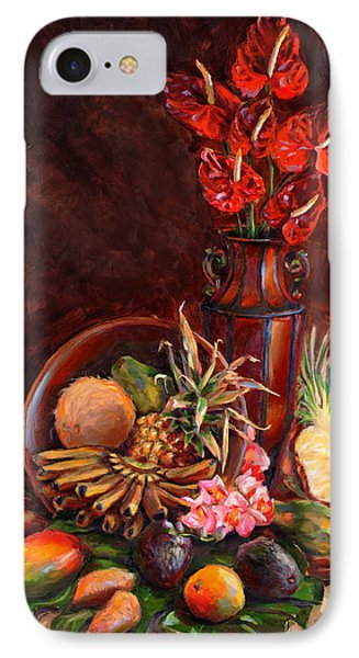Hawaiian Tropical Fruit Still Life IPhone Case by Karen Whitworth
