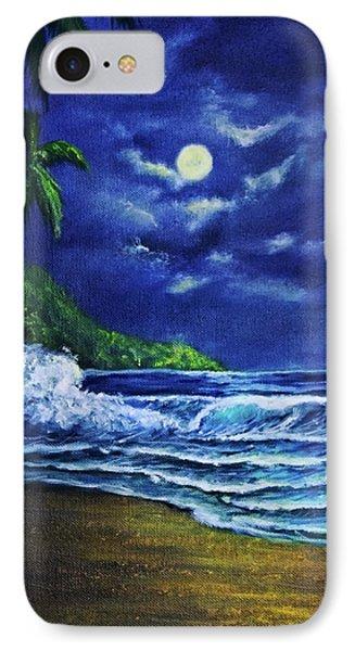 Hawaiian Tropical Ocean Moonscape Seascape #377 Phone Case by Donald k Hall