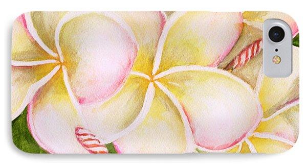 Hawaiian Tropical Plumeria Flower #483 Phone Case by Donald k Hall
