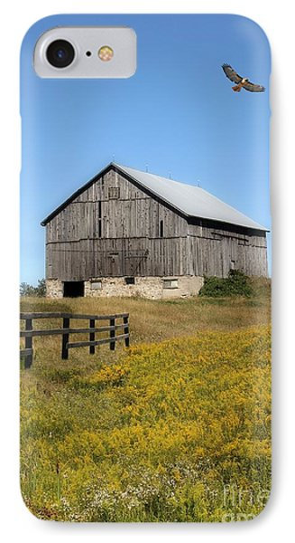Hawk And Barn IPhone Case by Anthony Djordjevic