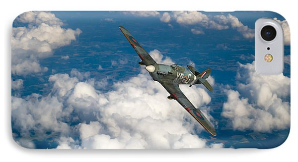 IPhone 7 Case featuring the photograph Hawker Hurricane IIb Of 174 Squadron by Gary Eason