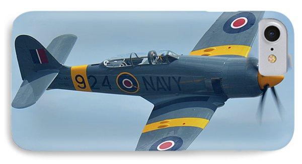 Hawker Sea Fury T20 N924g Chino California April 30 2016 Phone Case by Brian Lockett