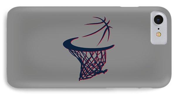 Hawks Basketball Hoop IPhone Case by Joe Hamilton