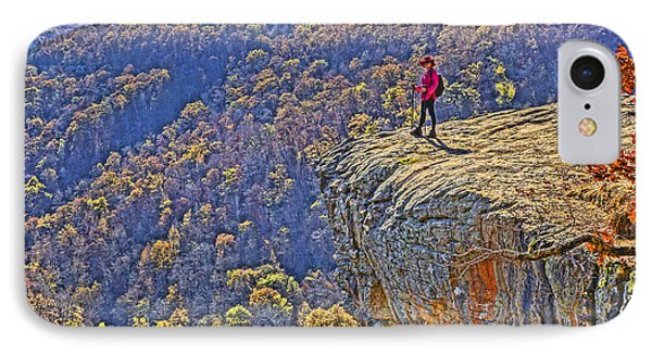 Hawksbill Crag Hiker Phone Case by Dennis Cox WorldViews