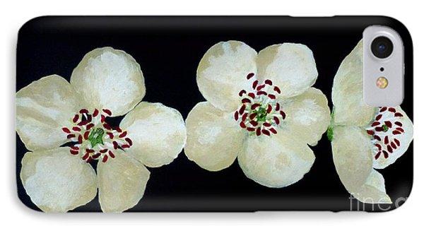 Hawthorn Flowers IPhone Case by Barbara Moignard