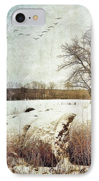 Hay Bales In Snow IPhone Case