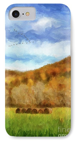 IPhone Case featuring the photograph Hay Bales by Lois Bryan