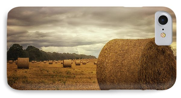 Hay Bales IPhone Case by Martin Newman