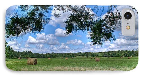 Hay Field In Summertime Phone Case by Douglas Barnett