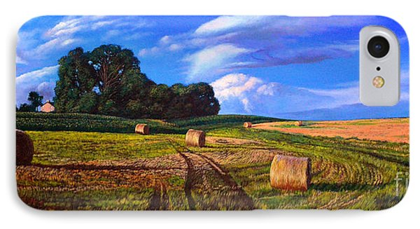Hay Rolls On The Farm By Christopher Shellhammer Phone Case by Christopher Shellhammer