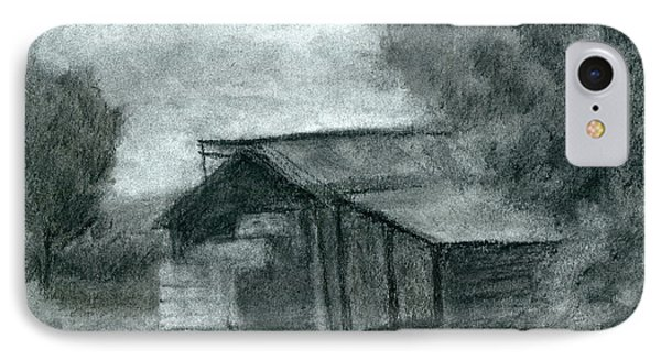 Hay Shed Sketch IPhone Case