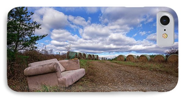 IPhone Case featuring the photograph Hay Sofa Sky by Alan Raasch