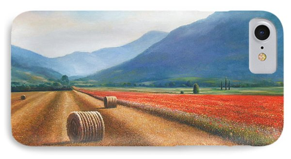 Haybales In Italy IPhone Case by Ann  Cockerill