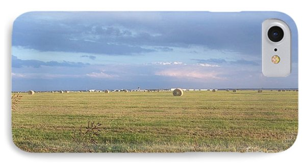 Haybales With Violet Sky IPhone Case