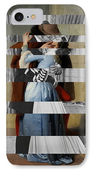 Hayes's The Kiss And Vivien Leigh With Clark Gable IPhone 7 Case by Luigi Tarini